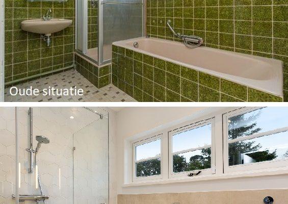 Oud en nieuw badkamer 1e