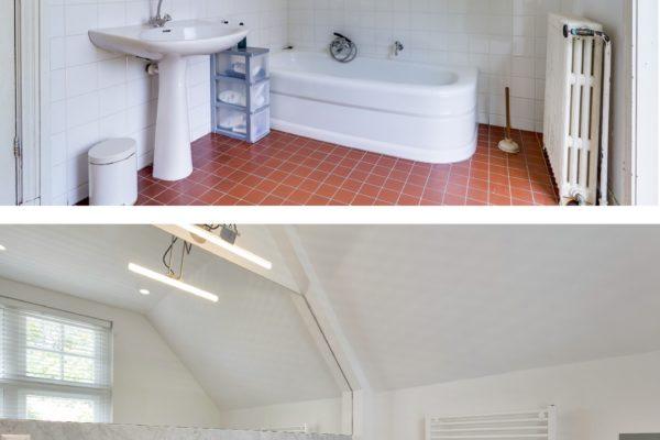 Oud nieuw badkamer